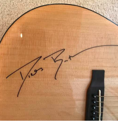 Charitybuzz Dierks Bentley Autographed Guitar Lot 1291601
