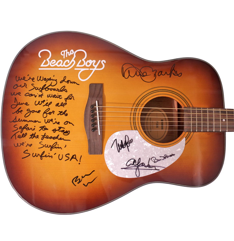 Charitybuzz The Beach Boys Signed Acoustic Guitar With