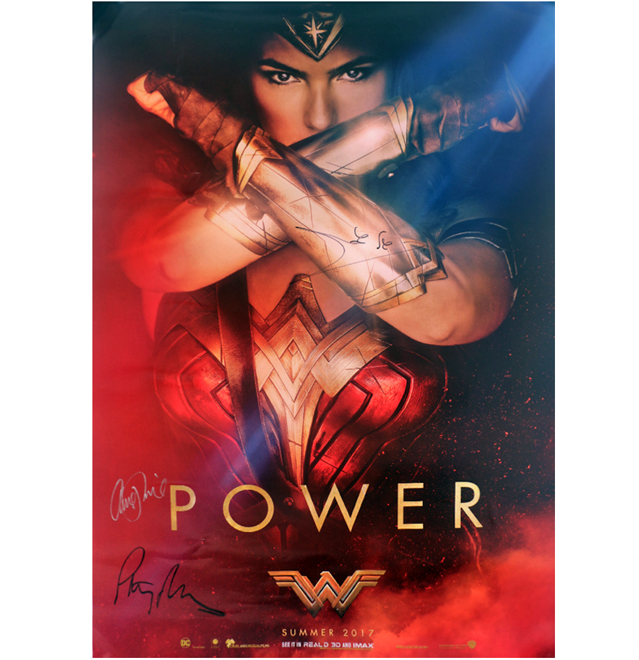 Charitybuzz 2 Official Wonder Woman Posters Signed By Gal Gadot