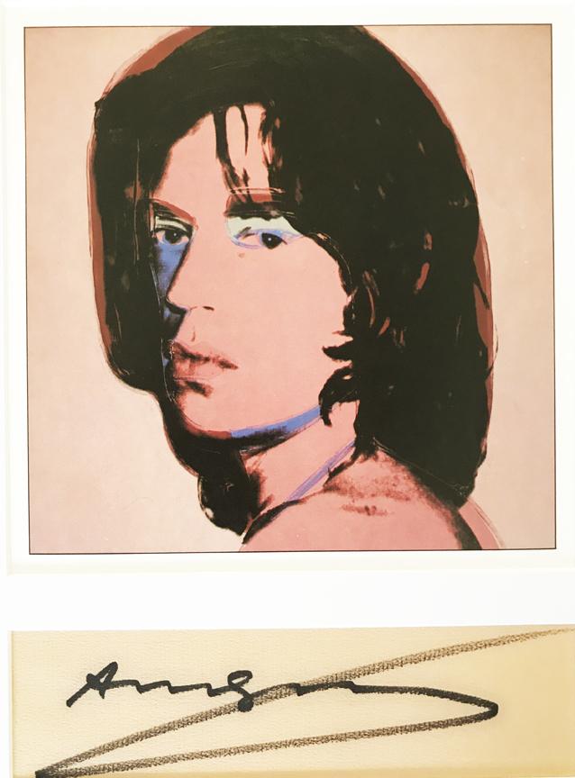 Andy Warhol - Mick Jaggerplate signed lithograph 1/500, La