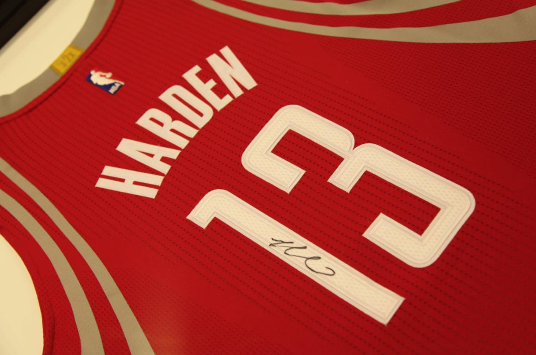 huge discount 40608 0660b James Harden Autographed Houston Rockets Jersey