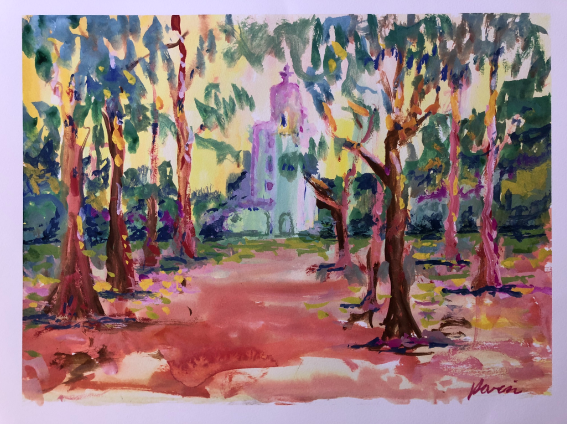 Charitybuzz: California Mission, Watercolor by the Grateful Dead's
