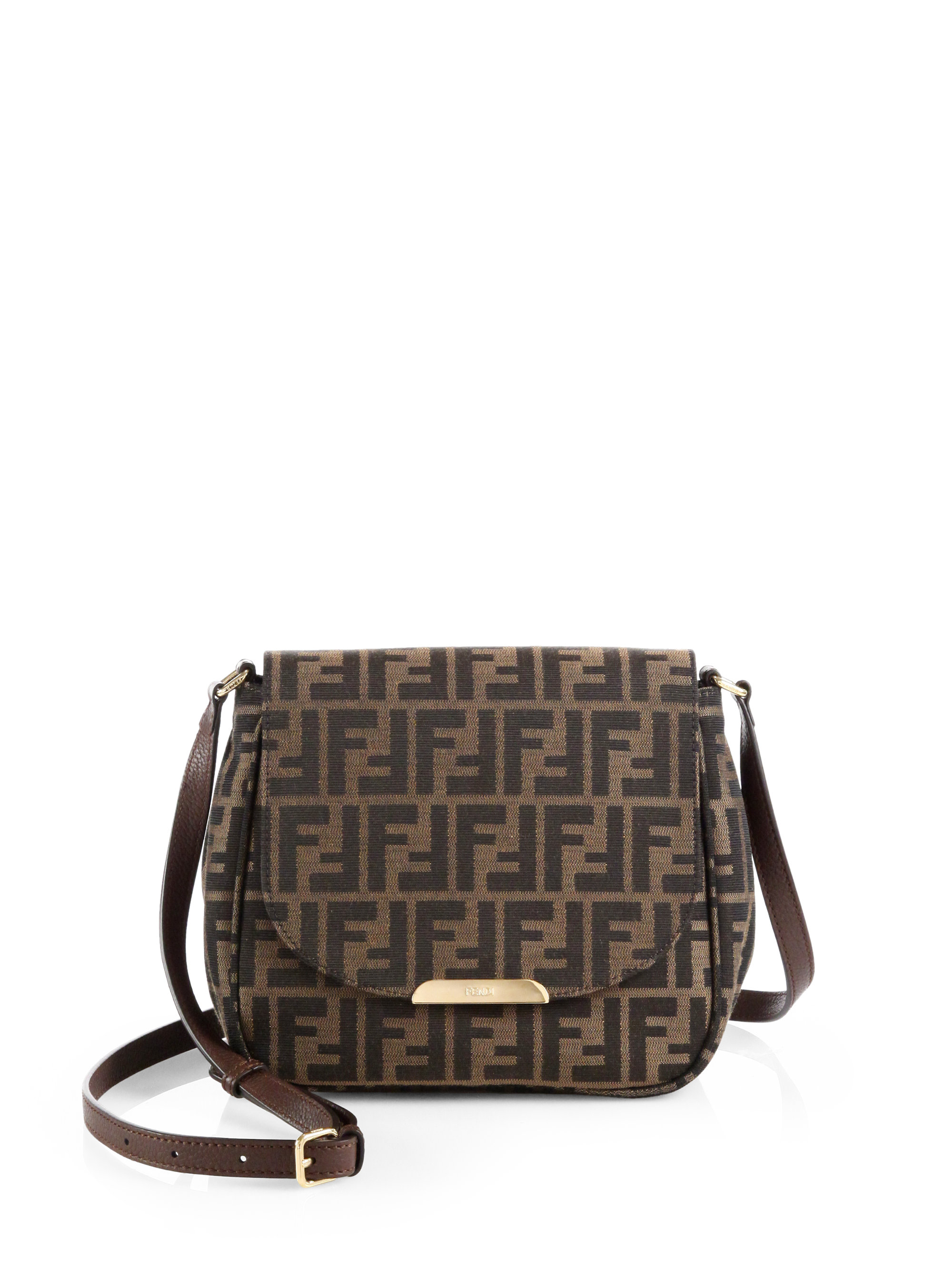 28d1c6503f44 ... cheap charitybuzz fendi zucca forever shoulder bag in brown lot 1427704  ca014 ff3c9 ...