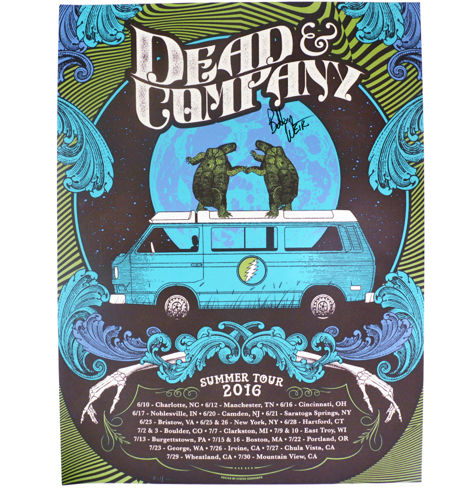 Charitybuzz 2016 Dead Amp Amp Company Summer Tour Poster Signed