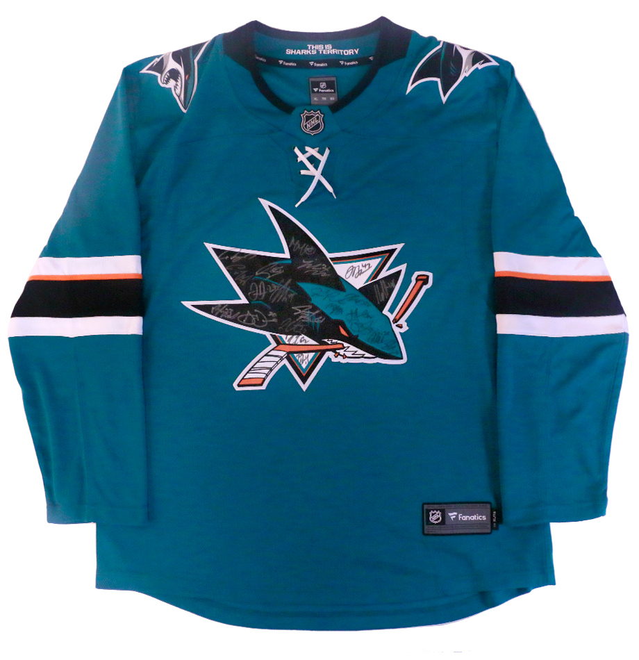 separation shoes a1fe5 4072d San Jose Sharks 2017-18 Team Autographed Jersey