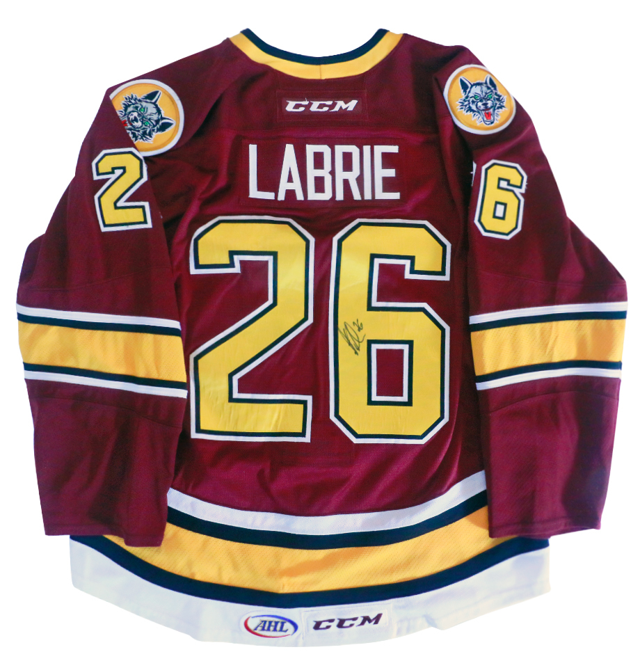 Hubert Labrie Autographed Game Worn Chicago Wolves Jersey 458731182e6