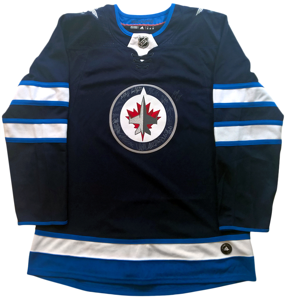 the latest 50fd4 88228 NHL Winnipeg Jets Team Signed Hockey Jersey ... - Charitybuzz