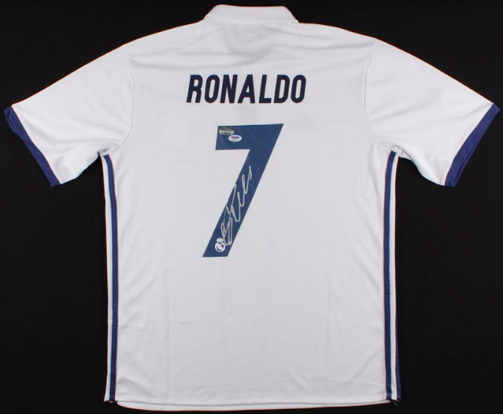 outlet store b81e6 2689a Cristiano Ronaldo Signed Authentic Real Madrid Jersey