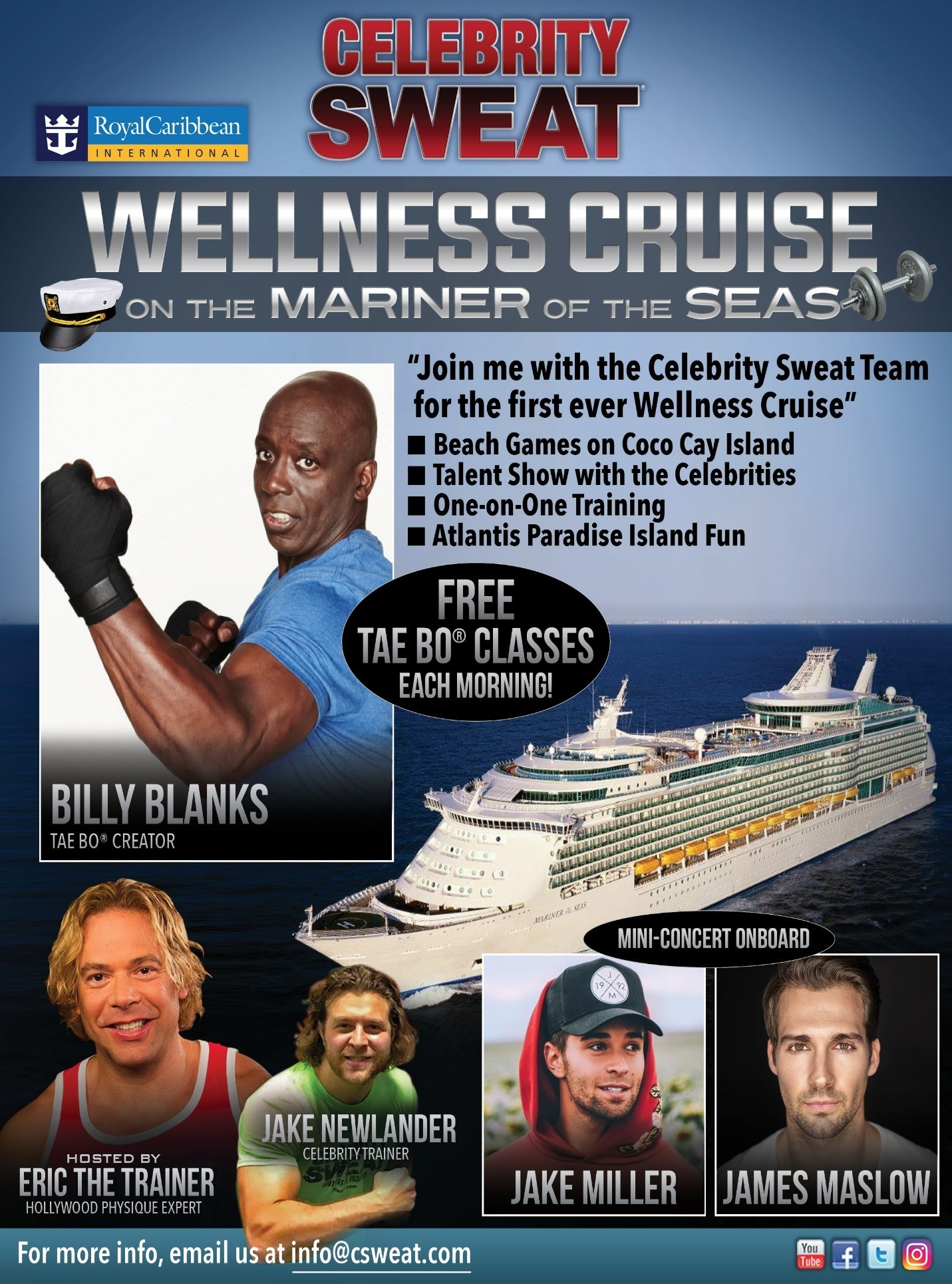 Charitybuzz Sail The Bahamas On The Celebrity Sweat Cruise With