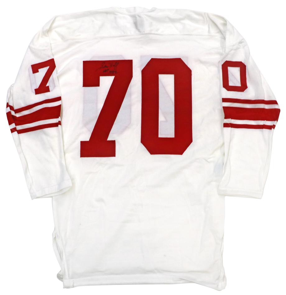 best website 9a6da d8b64 NY Giants Sam Huff Signed Jersey - Lot 1781613 - Charitybuzz