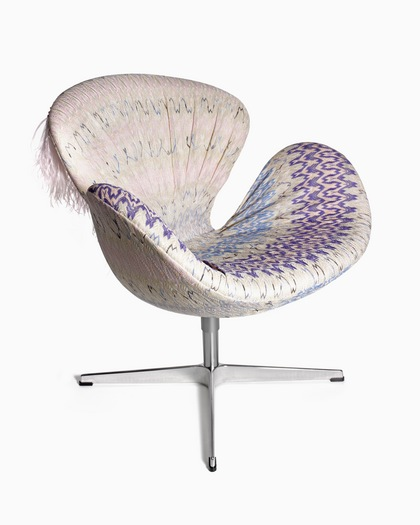 Margherita Missoni Petal Desk Chair: Charitybuzz: Swan Chair Designed By Margherita Maccapani
