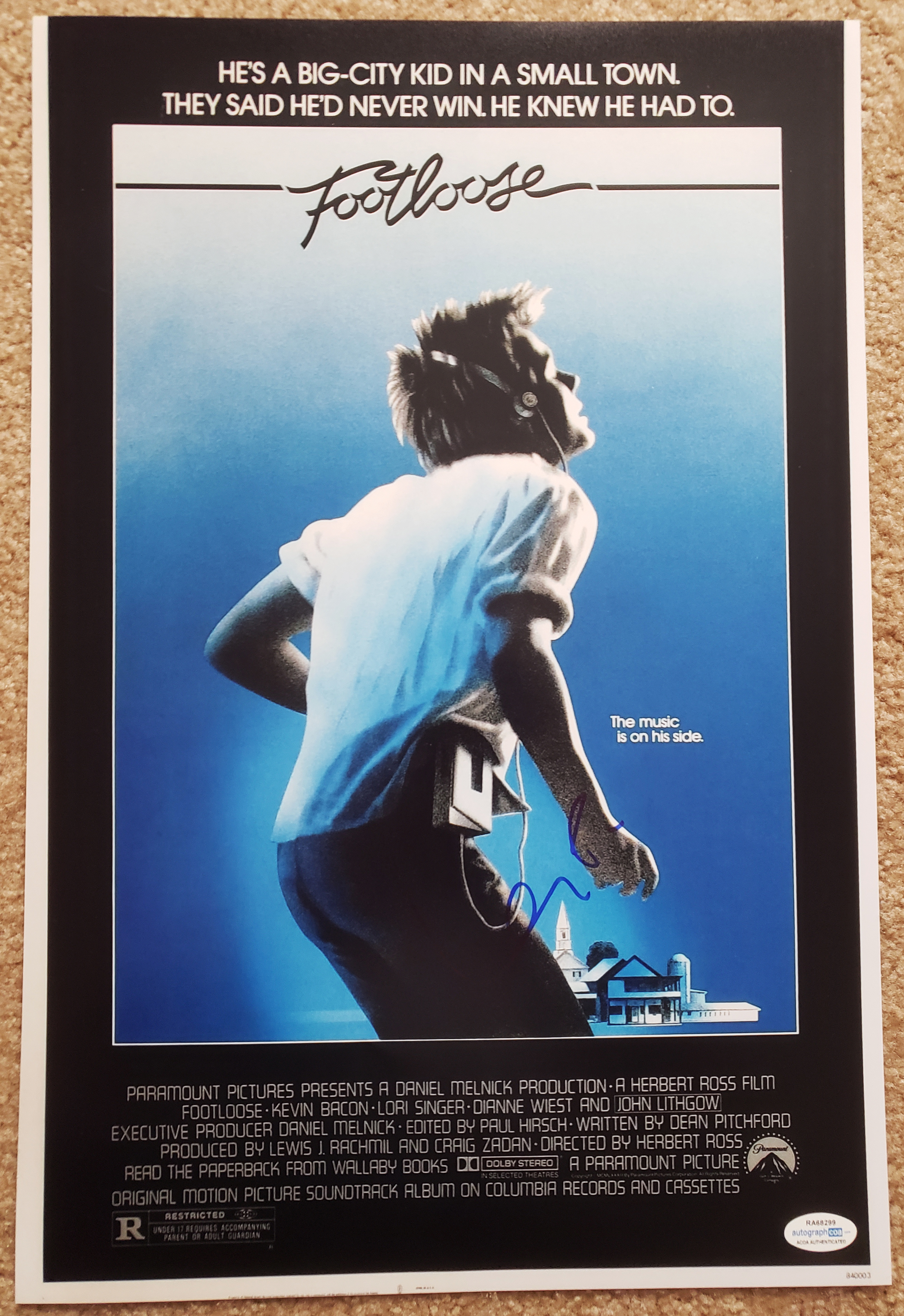 Footloose Orignal Movie Poster Kevin Bacon Adult T Shirt All Sizes Innovatis Suisse Ch