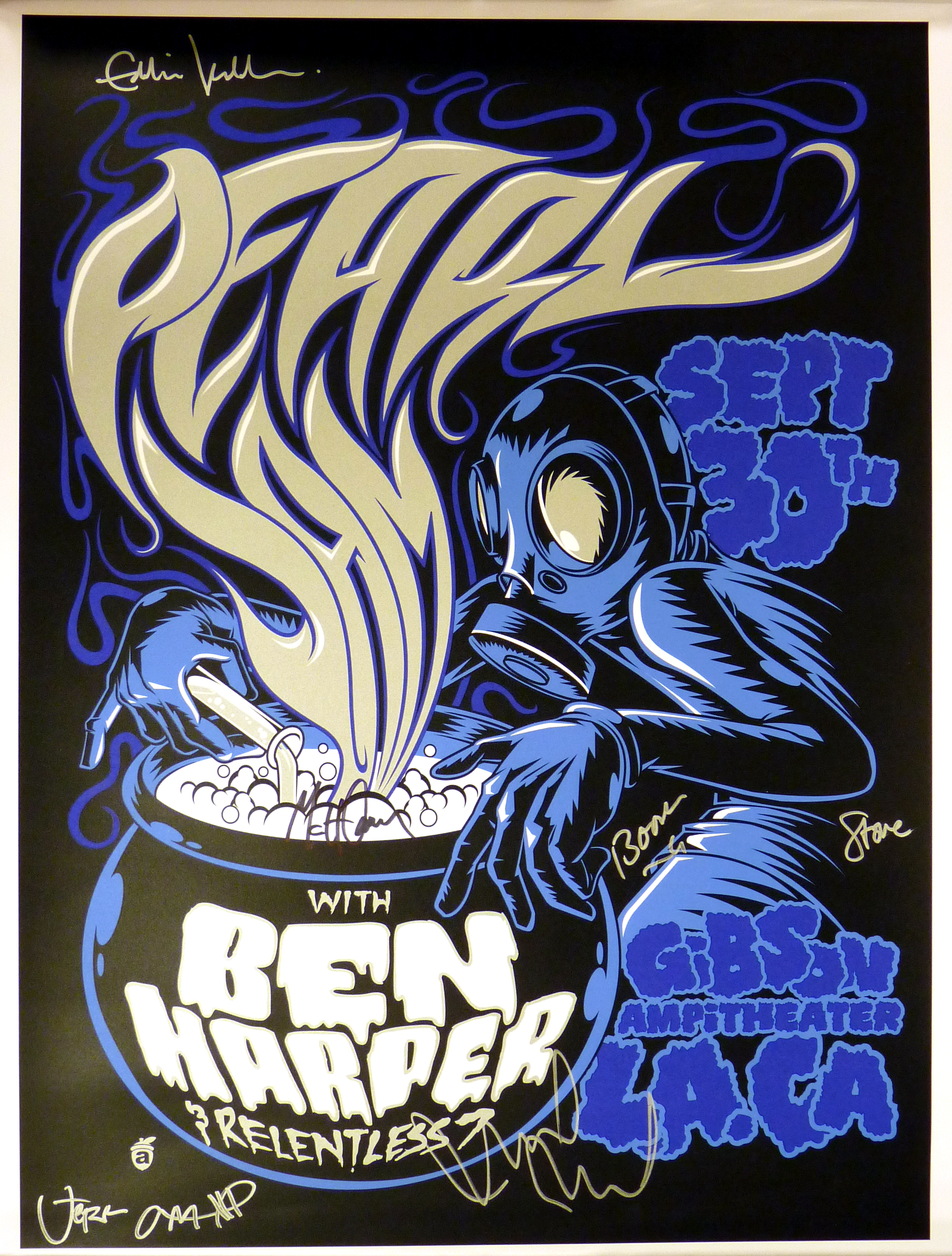 Charitybuzz Pearl Jam Autographed 2009 Tour Poster Lot