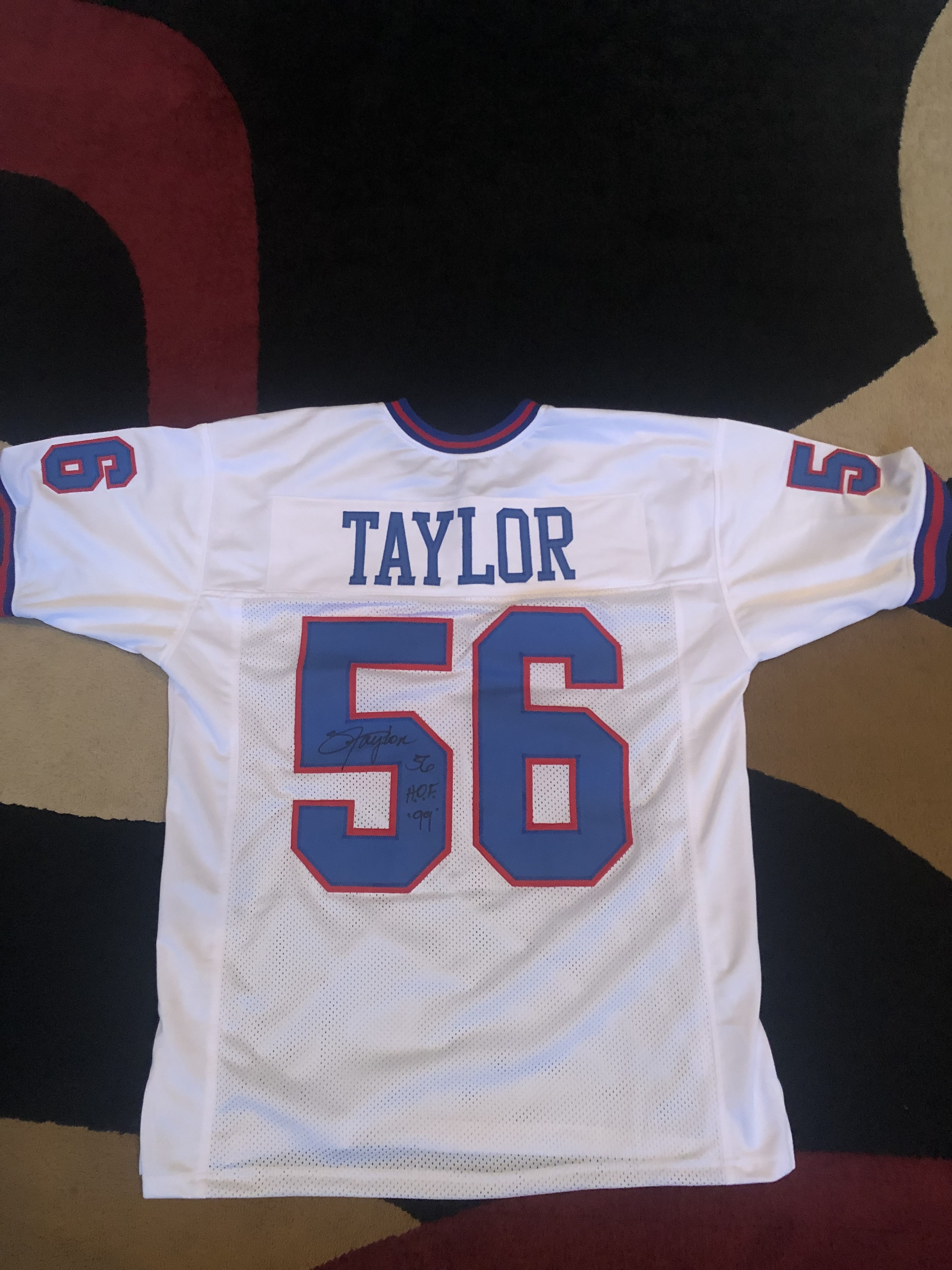 new styles 3c059 ab543 Lawrence Taylor Signed New York Giants NFL Away Jersey