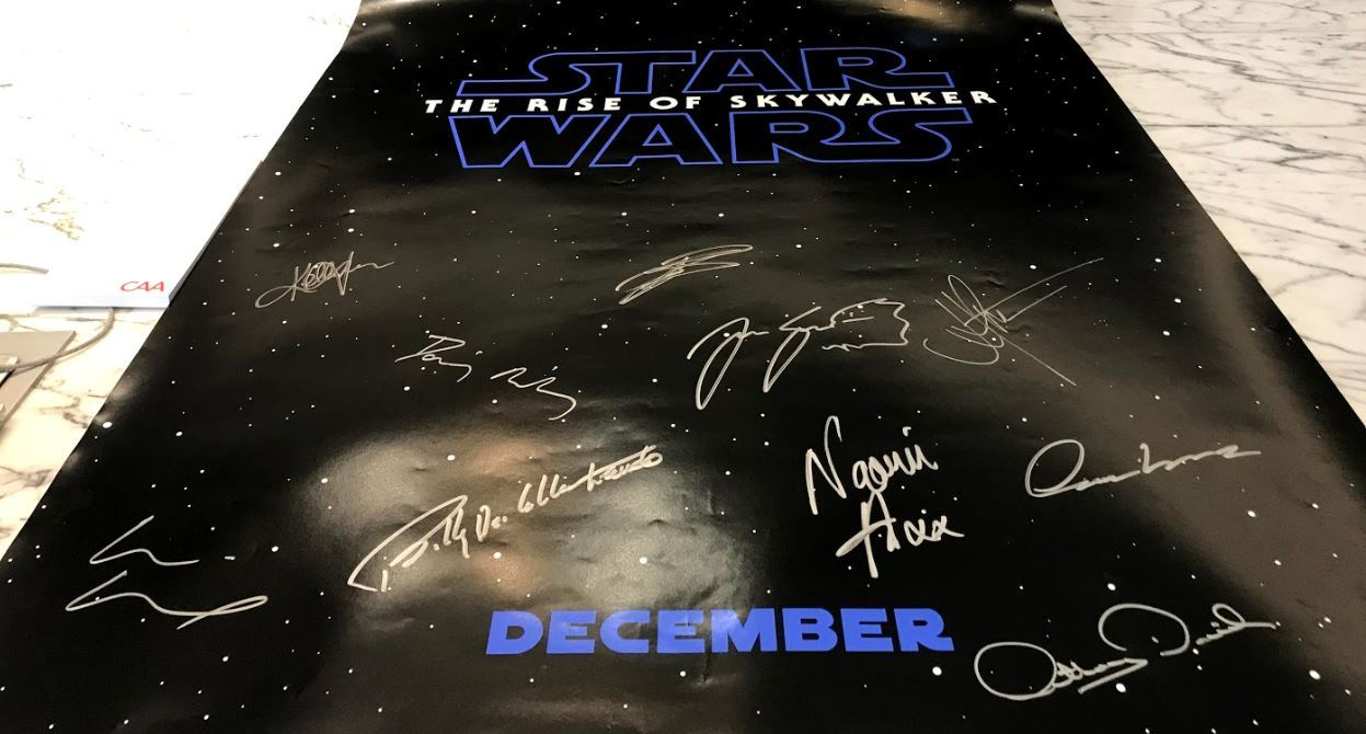 Charitybuzz Star Wars The Rise Of Skywalker Poster Signed By The Cas Lot 1885522