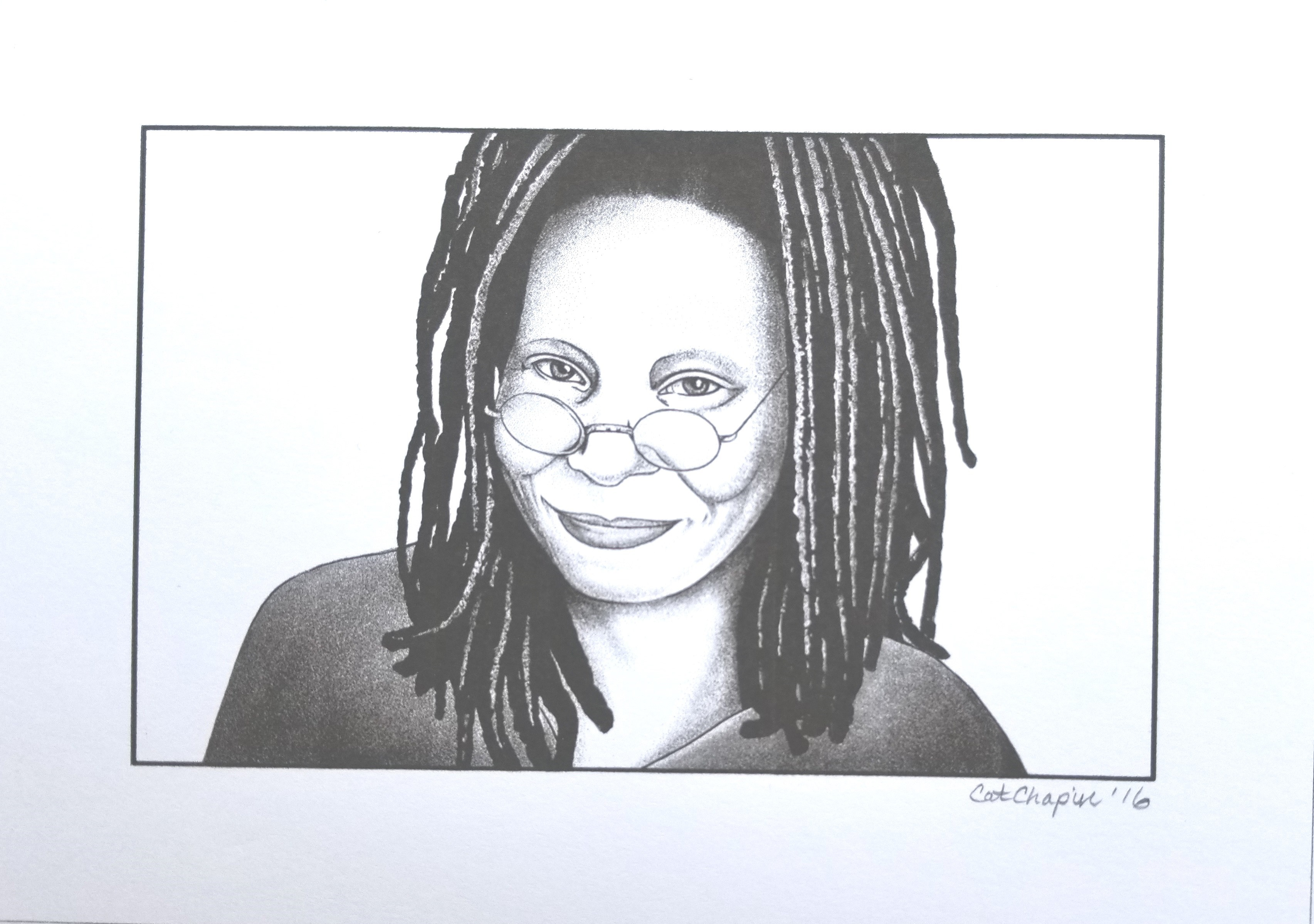 CERT PRINTED AUTOGRAPH LIMITED EDITION WHOOPI GOLDBERG SIGNED PHOTOGRAPH