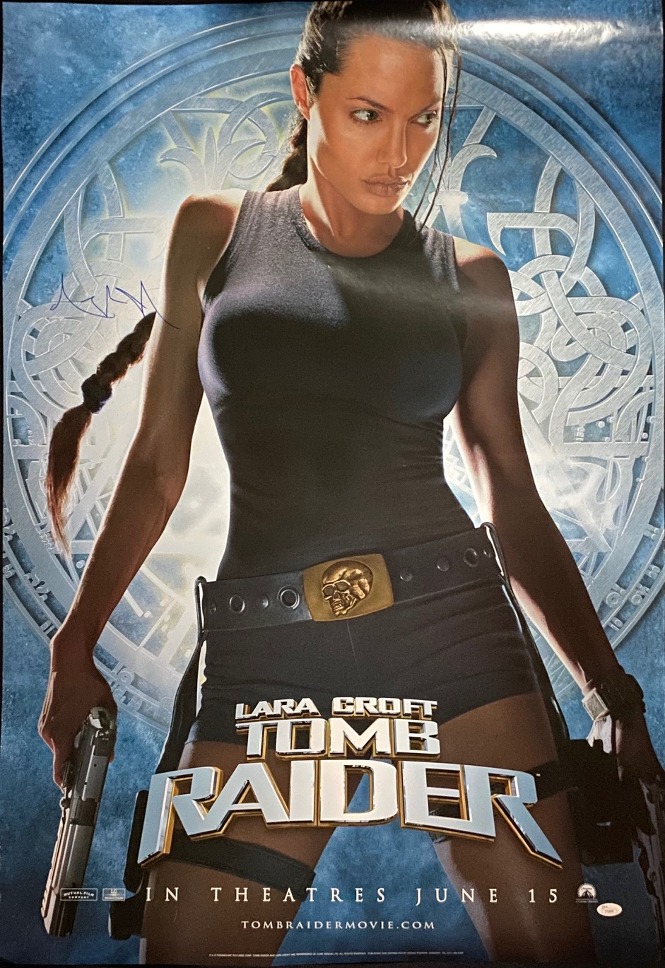 Charitybuzz Angelina Jolie Signed Lara Croft Tomb Raider Full