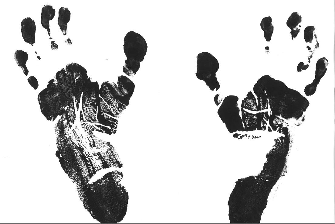 ... these Footprints from Jay, a Chimp at Jane Gooda... - Lot 275438 Chimpanzee Jane