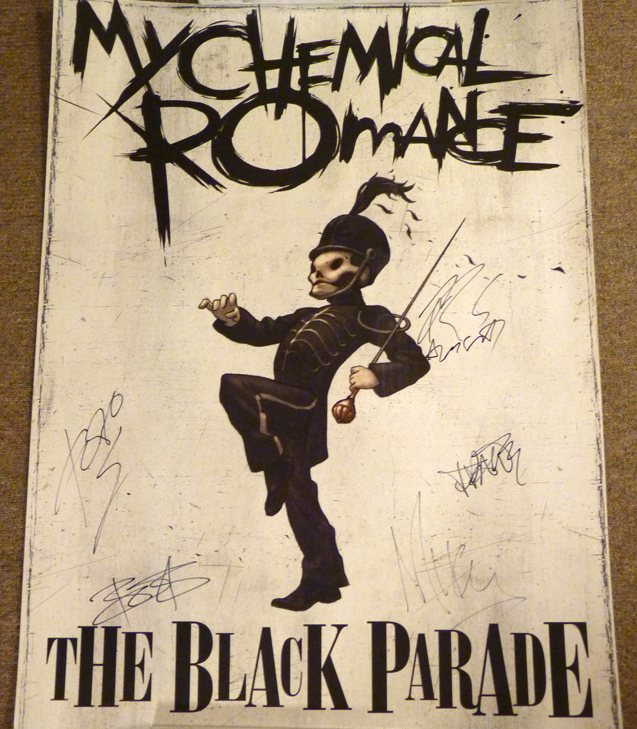 Charitybuzz my chemical romance autographed poster lot for A chemical romance salon