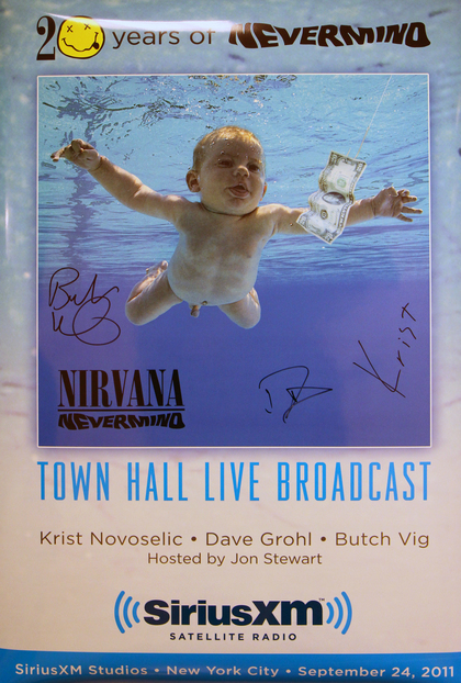 Charitybuzz Nirvanas Nevermind Album 20th Anniversary Poster And