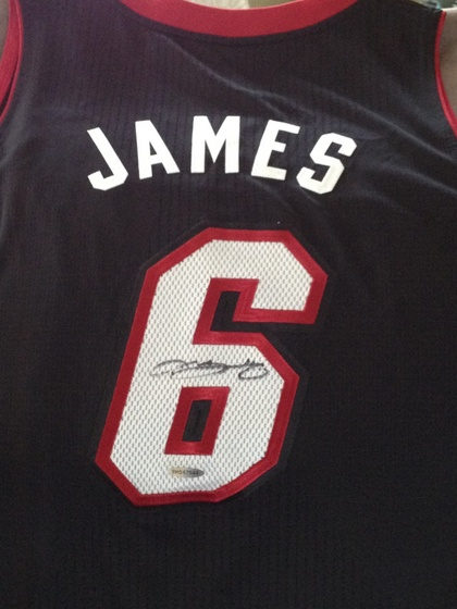 cheap for discount 8047c 6b3d7 Charitybuzz: LeBron James' Autographed Miami Heat Jersey ...