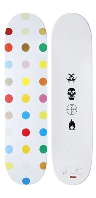 Charitybuzz Dotted Supreme Skateboard Deck 4 Designed