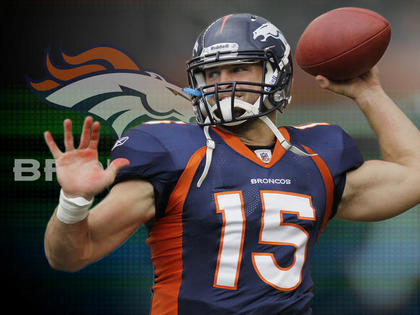 new product bdbb5 948cf Charitybuzz: Take Home a Tim Tebow Signed Broncos Jersey ...