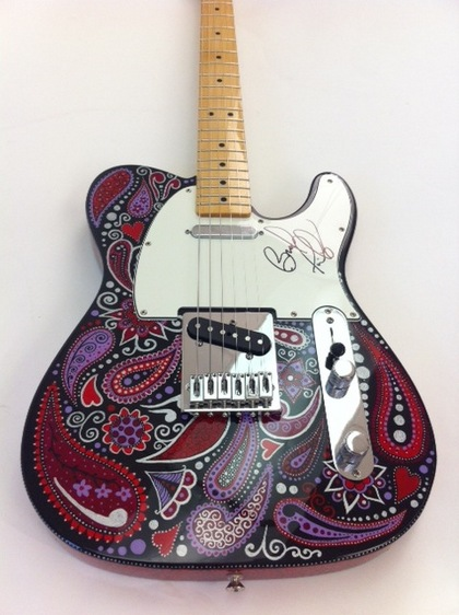Charitybuzz Custom Painted Fender Telecaster Signed By