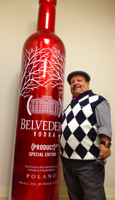 charitybuzz celebrity signed 250 liter belvedere red. Black Bedroom Furniture Sets. Home Design Ideas