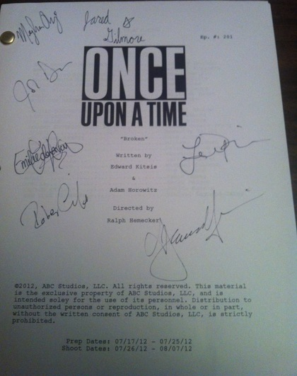 Once Upon A Time Calligraphy Charitybuzz: Signed Sc...