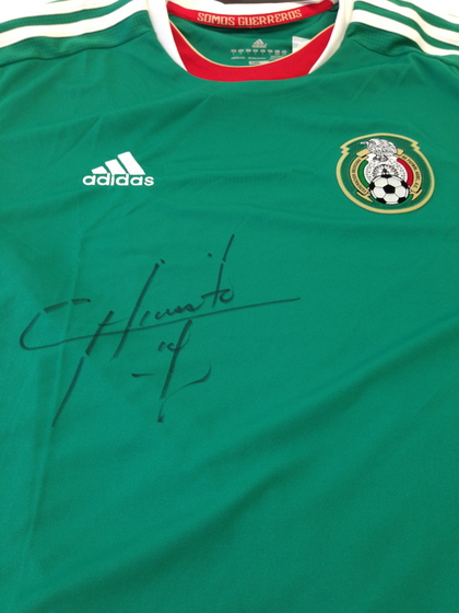 Collect This Mexico National Football Team Jersey Autographed by Chicharito.  Your bid supported  Tulane University. Detail. Detail 34c7fdfe5