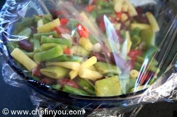 Kidney Beans Salad Recipe | Italian Beans (Romano) Salad Recipe