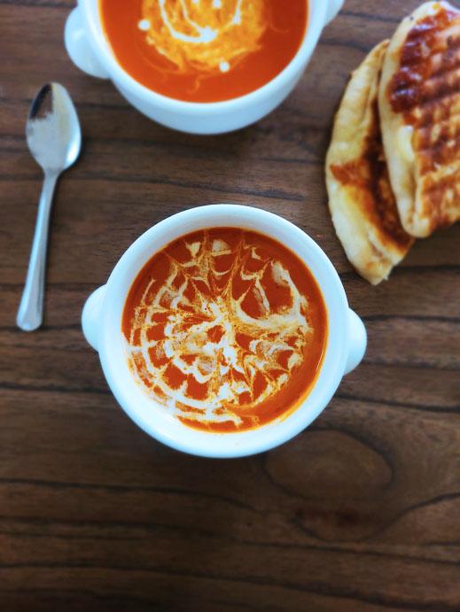 Indian Creamy Tomato Soup Recipe | Pressure Cooker Tomato Soup Recipe