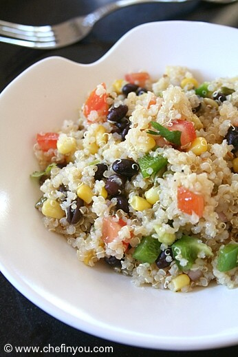 Black Beans Quinoa Salad Recipe | Healthy Quinoa Recipes