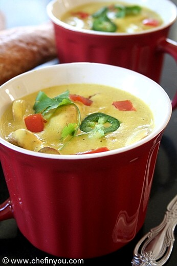 Winter Soup with roasted Jalapeno | Spicy Vegetable Soup Recipe