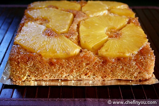 Pineapple Carrot Upside Down cake