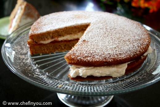Eggless Vanilla Sponge (Layer) Cake
