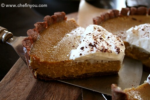 Roasted Pumpkin Pie with Chocolate Crust