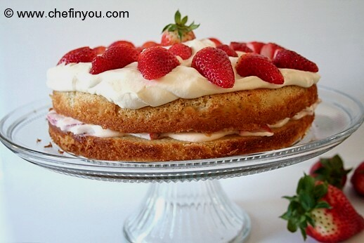 Strawberry Whipped Cream Cake Recipe | Strawberries Recipes