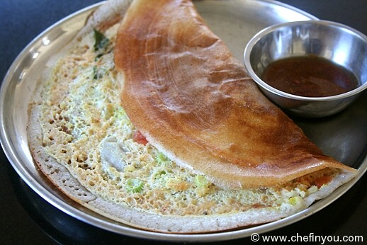 Egg Dosa with Quinoa