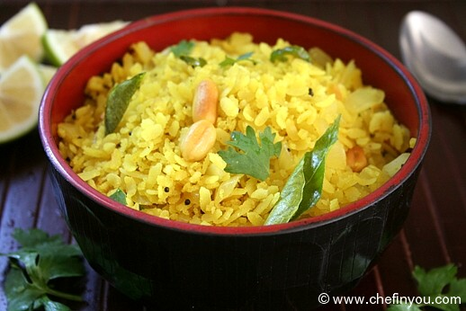Kanda Poha (Flattened Rice with Onions)