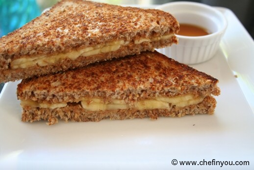Elvis Presley Peanut Butter Sandwich (healthy) Recipe | Breakfast Sandwich Recipes