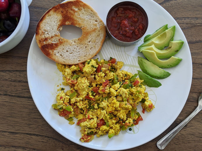 Easy Tofu Scramble Recipe | Tex Mex Scrambled Tofu Recipe