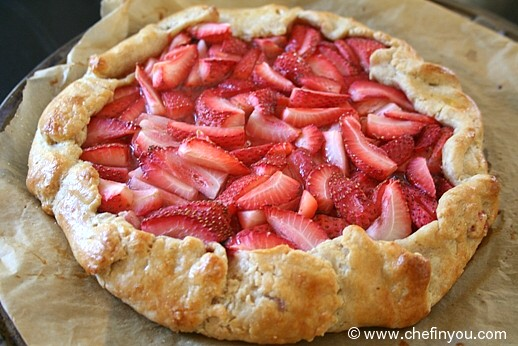 French Galette Recipe | Strawberry Crostata Recipe | Strawberry Recipes