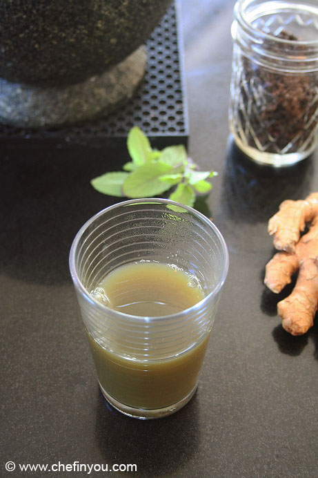 Ginger Holy Basil Tonic | Ginger Tonic for Flu and Cold | Winter Tonic Recipe