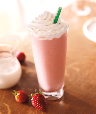 Best Strawberries and Cream Recipe | Starbucks styled Strawberry Frappuccino® Blended Beverage Recipe