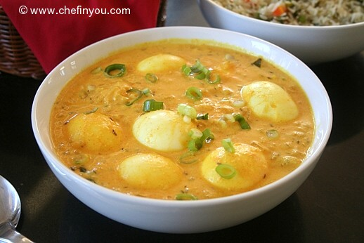 and Yogurt Curry Recipe | Egg and Green Yogurt Curry Recipe | Indian ...