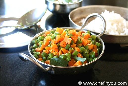 Carrot Beans Poriyal (stir fry)