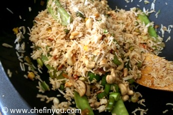 Chinese Fried Rice Recipe with Cashew Nuts |  Rice Recipes