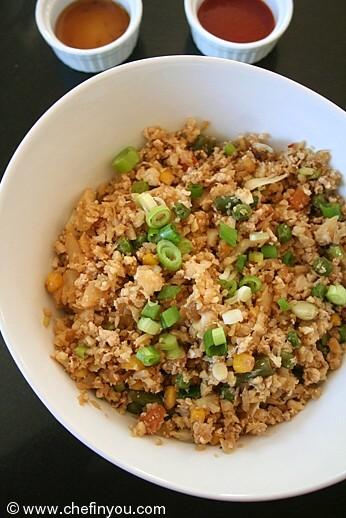 Egg Fried Rice recipe |  Cauliflower Recipes |  Easy Healthy Recipes